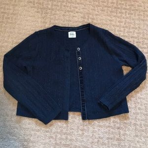 Sparkly navy cropped cardigan from Boden!